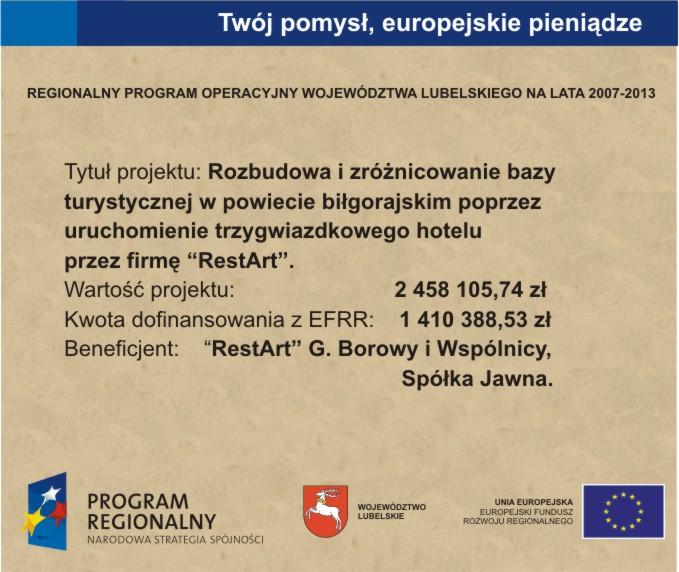 Dofinansowanie hotelu Sitarska - Biłgoraj