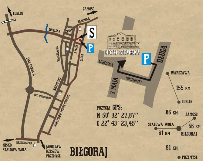 Hotel Restauracja Sitarska w Biłgoraju - parking